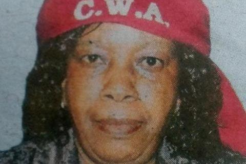 Jane Wambui Gitau - Obituary Kenya